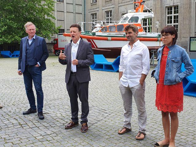 Christian Springer, Wolfgang Heckl, Till Hofmann und Eva Karl-Faltmeier, Foto: Johanna Lindner