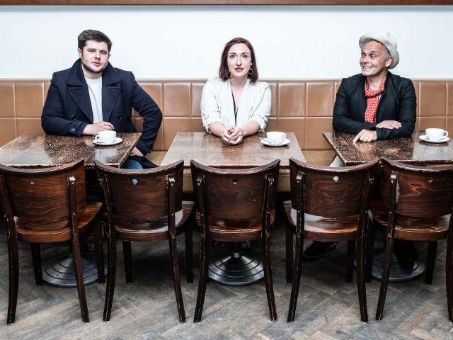 Sebastian Fritz, Christl Sittenauer und Frank Klötgen, Foto: Gila Sonderwald
