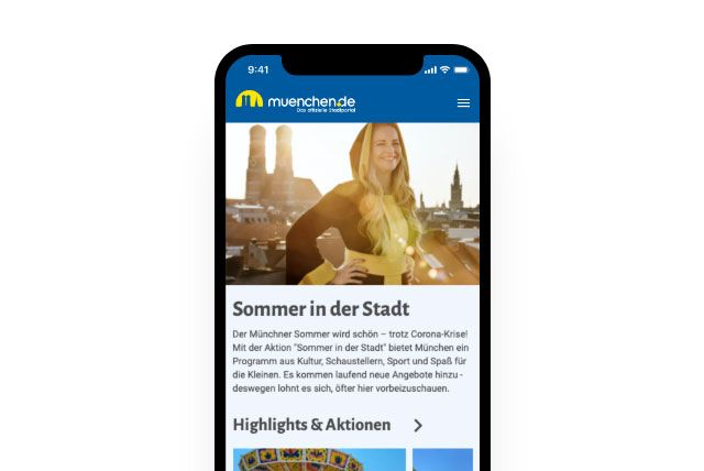 Web App - Screenshot - Startseite