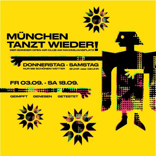 """Plakat zur Aktion """"München tanzt wieder"""", Foto: VDMK"""