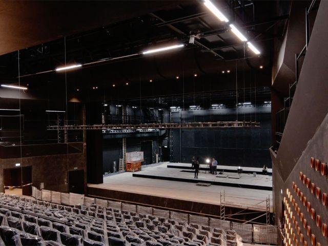 Bühne im Münchner Volkstheater, Foto: Florian Holzherr