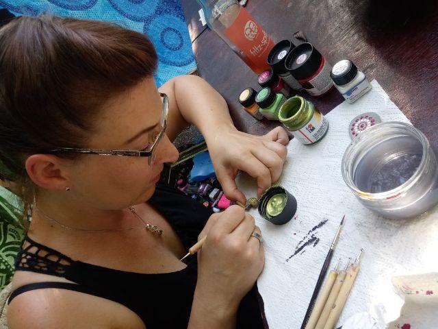 Dotting mit Silke Rimatzki , Foto: spicyorange