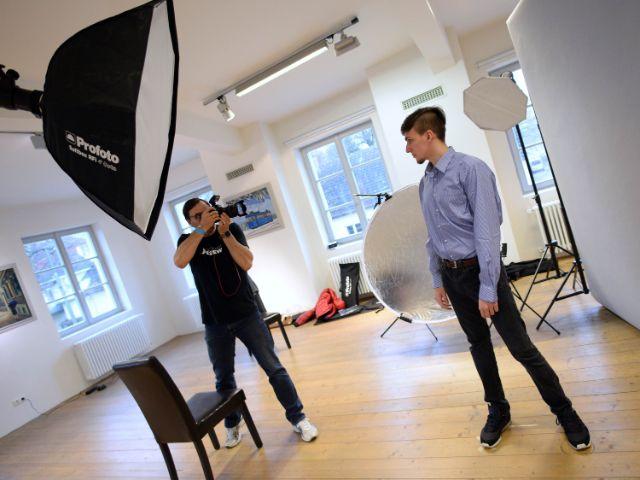 Fotoshooting für Bewerbungsfotos, Foto: IHK