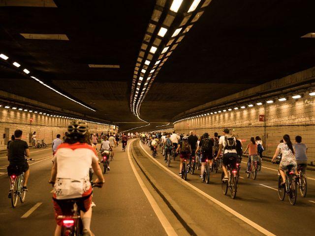Radfahrer im Altstadtringtunnel, Foto: Initiative Radlhauptstadt / Jonas Nefzger