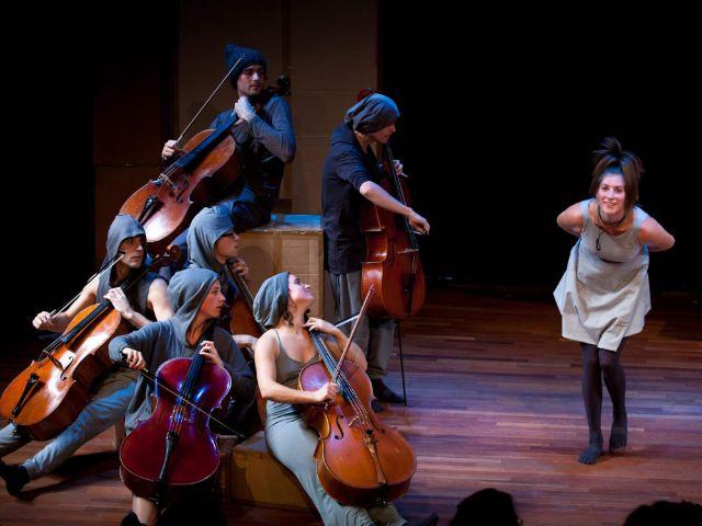 "Szene aus ""Cello Storm"", Foto: Ronald Knapp/Schauburg"
