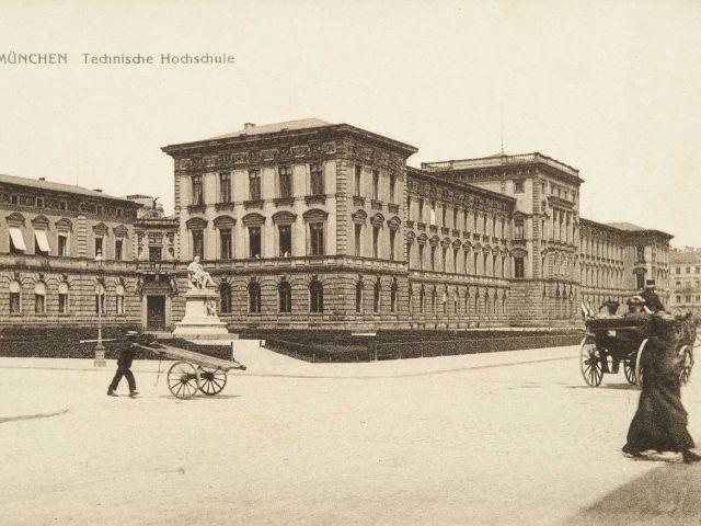 Historische Aufnahme der Technischen Universität München um 1900 , Foto: TUM.Archiv