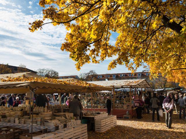 Schöne Herbststimmung auf der Auer Dult - Kirchweihdult, Foto: Lukas Barth