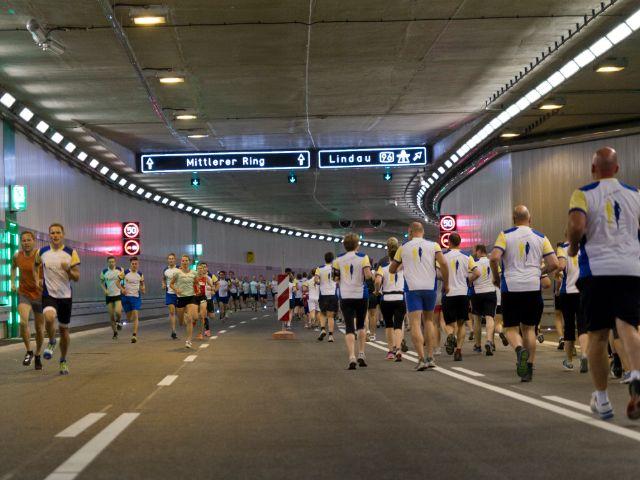 Tunnellauf Luise-Kiesselbach-Tunnel 2015, Foto: Katy Spichal