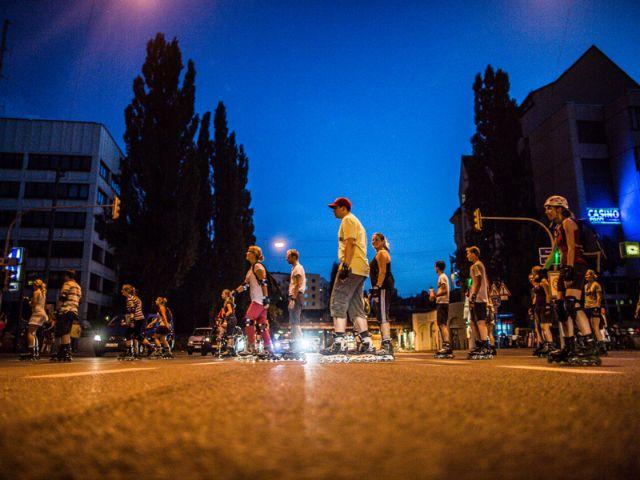 Blade Night München bei Nacht, Foto: Green City e.V. / Andreas Schebesta