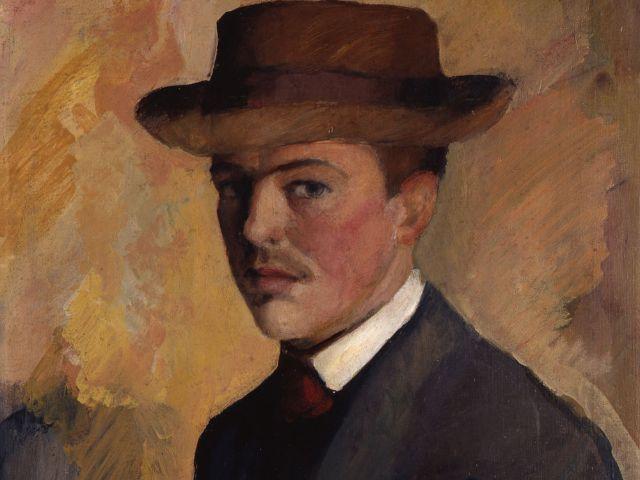 Selbstporträt von August Macke., Foto: Kunstmuseum Bonn