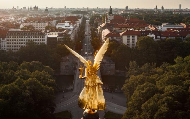 Der Friedensengel in München, Foto: Rainer Viertlböck