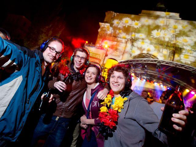 Headphone-Party beim Streetlife, Foto: Tobias Hase