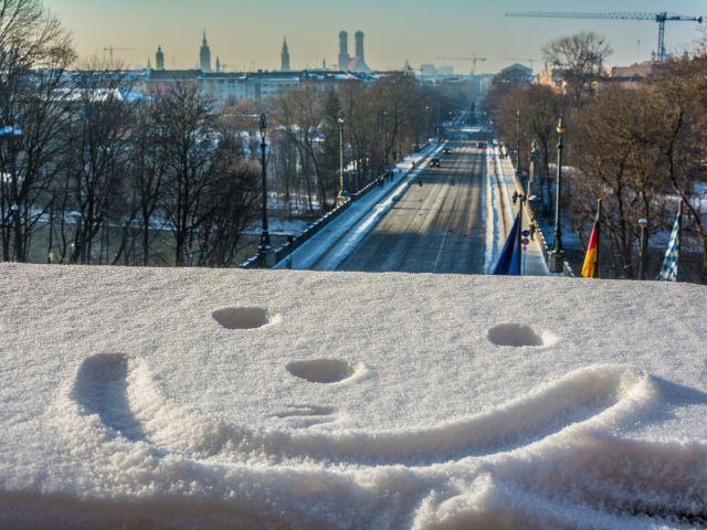 Aussicht vom Landtag im Winter, Foto: muenchen.de/Michael Hofmann