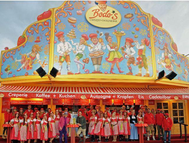 Bodo's Cafézelt auf dem Oktoberfest, Foto: Bodo's Cafézelt