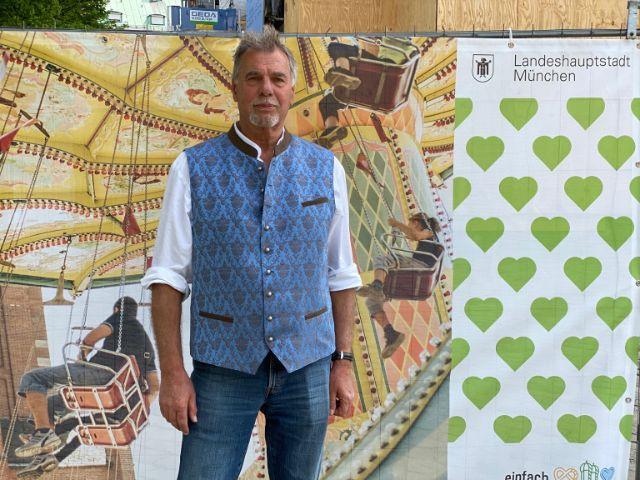 Günter Bretz, 1. Vorsitzender der Bezirksstelle München der Marktkaufleute und Schausteller, Foto: muenchen.de/Gunnar Jans