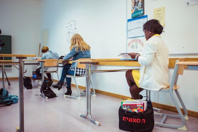 Unterricht an der Städtischen Franz-Auweck-Abendschule