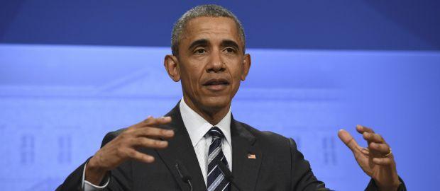 US-Präsident Barack Obama zu Gast auf der Hannover Messe, Foto: picture alliance / Sven Simon