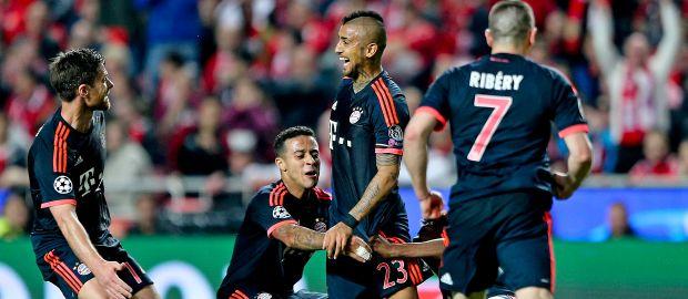 Vidal jubelt nach seinem Tor zum 1:1 Ausgleich., Foto: picture alliance / dpa