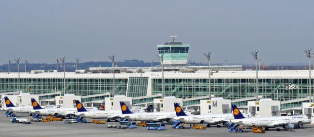 Terminal am Flughafen München, Foto: Werner Hennies/Flughafen München