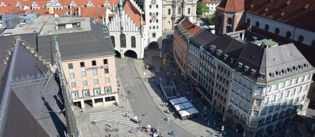 Marienplatz mit Altem Rathaus, Foto: muenchen.de