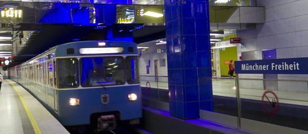 U-Bahn an der Münchner Freiheit., Foto: Katy Spichal