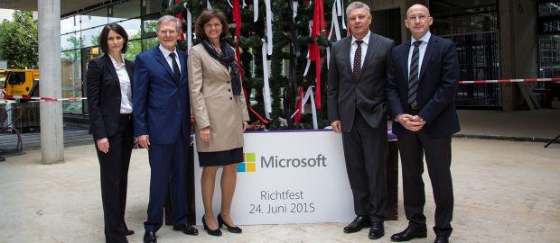 Richtfest der neuen Microsoft-Zentrale., Foto: Microsoft Corporation