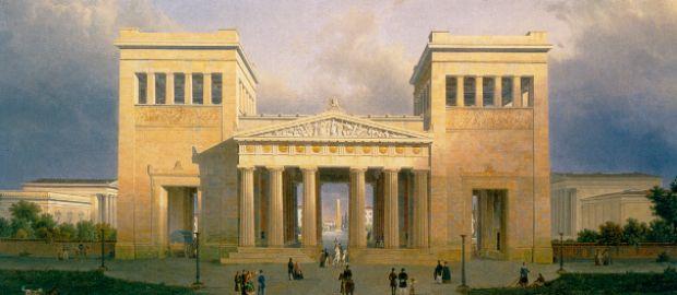 Königsplatz, Zeichnung von Leo von Klenze
