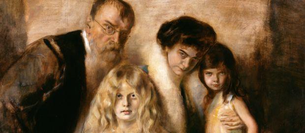 Franz von Lenbach mit Familie