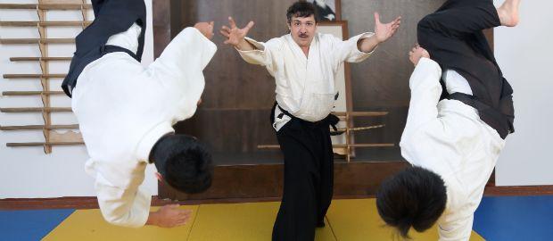 Vorführung Aikido-Wurf, Foto: Novoselov / Shutterstock.com