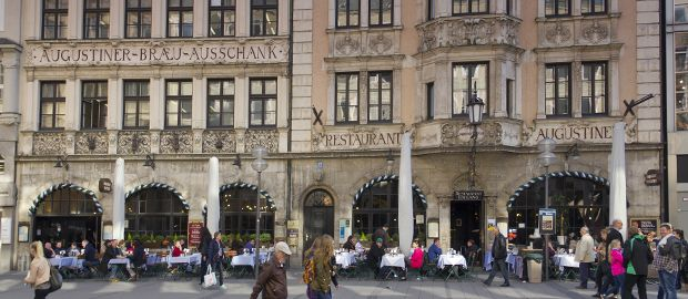 Das Augustiner Stammhaus inmitten der Münchner Fußgängerzone, Foto: Katy Spichal