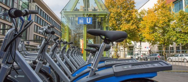 MVG Räder am U-Bahnhof Schwanthalerhöhe, Foto: SWM/MVG