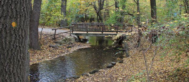 Brücke über die Würm im Pasinger Stadtpark, Foto: Christian Brunner