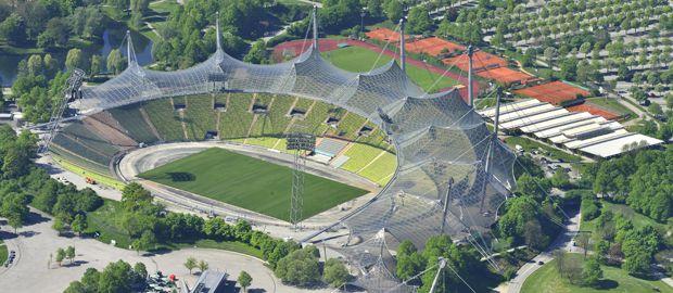 Luftaufnahme vom Olympiastadion im Olympiapark München, Foto: Olympiapark München