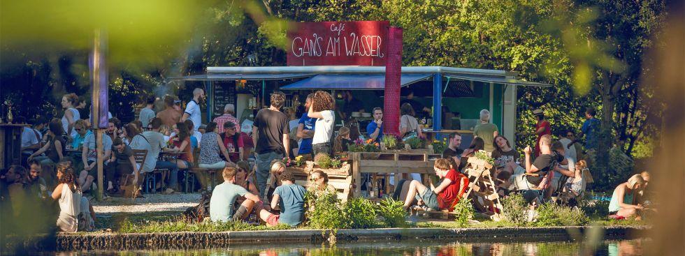 Das Café Gans am Wasser im Westpark, Foto: Café Gans am Wasser
