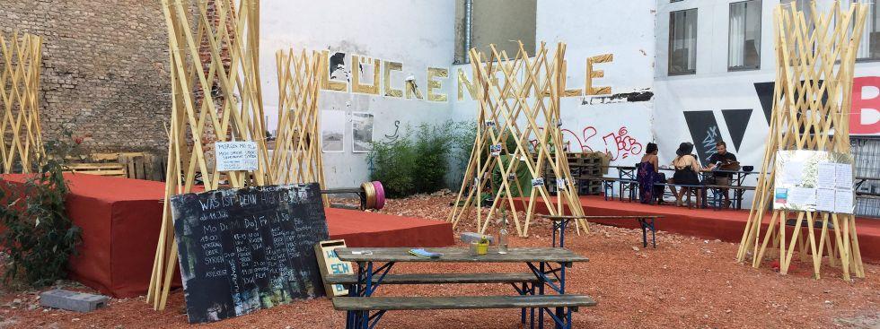 Kulturprojekt Lückenfülle am Stiglmaierplatz, Foto: muenchen.de/Mark Read