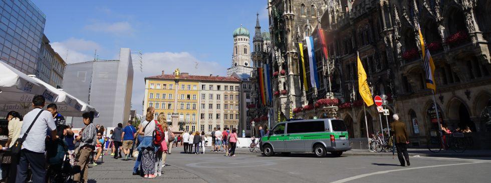 Lage um den Marienplatz am Tag nach den Schüssen am OEZ, Foto: muenchen.de/ Dan Vauelle