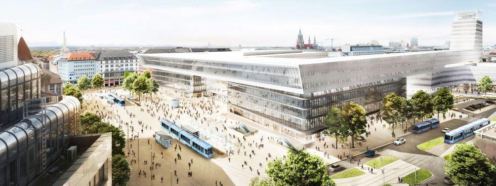 Überarbeitete Pläne für Hauptbahnhof und Starnberger Flügelbahnhof, Foto: Auer Weber