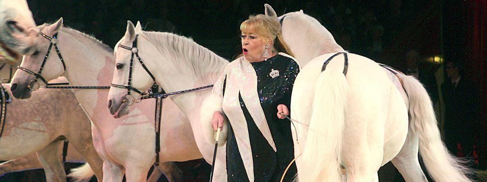Berühmt für ihre Pferde-Dressuren: Christel Sembach-Krone., Foto: dpa