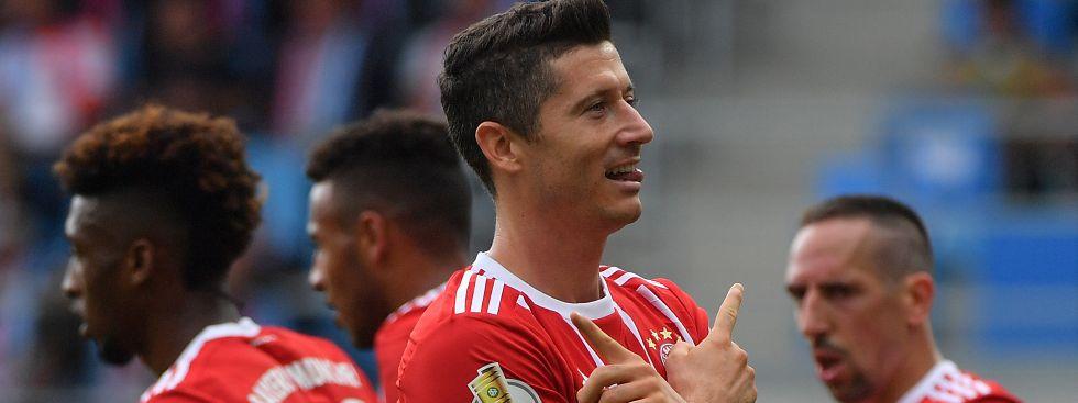 FC Bayern gewinnt DFB-Pokalspiel gegen den Chemnitzer FC