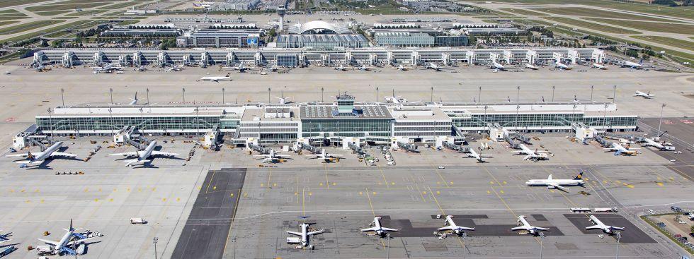 Das Flughafen-Gelände in München im Überblick, Foto: Michael Fritz