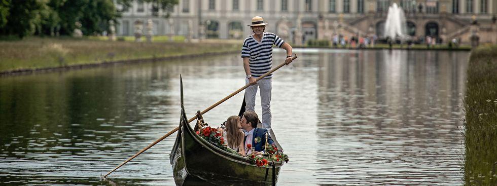 Gondelfahrt auf dem Kanal im Schlosspark Nymphenburg , Foto: Nicolas Gradicsky