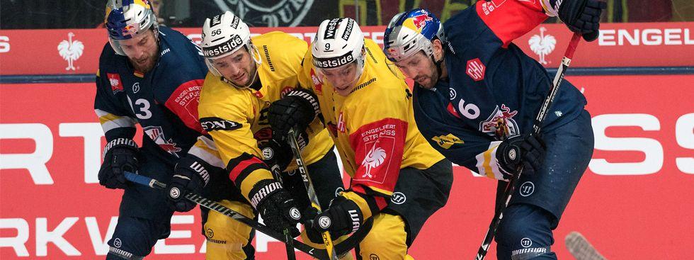 Harter Kampf, leider bei Erfolg: Die Res Bulls scheiterten an Bern., Foto: Red Bull / Gepa Pictures