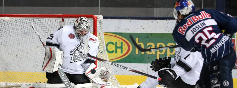 Spielszene EHC Red Bull vs. Ice Tigers., Foto: GEPA Pictures