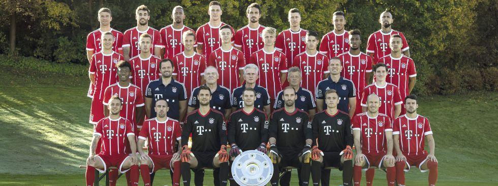 Kader des FC Bayern München 2017/18, Foto: FC Bayern München