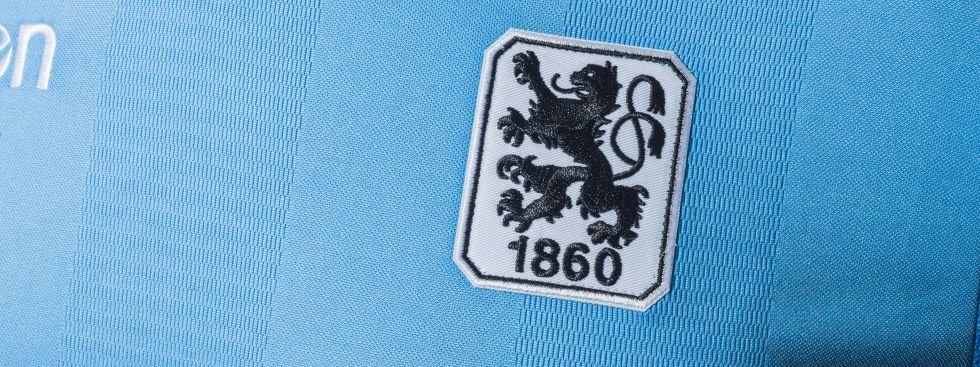 Trikot des TSV 1860 München mit Löwen-Wappen in der Regionalliga-Saison 2017/18, Foto: TSV 1860 München