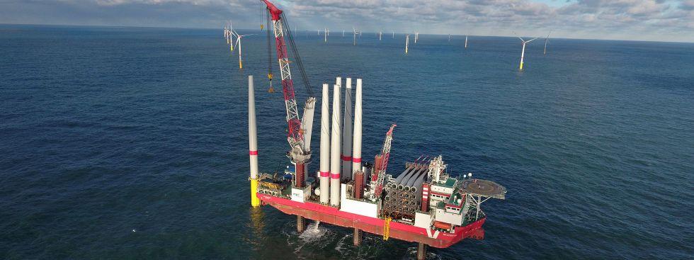 Offshore-Windpark Sandbank westlich von Sylt, Foto: SWM