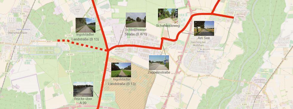 Radschnellweg nördlicher Stadtrand-Garching, Foto: Planungsverband Äußerer Wirtschaftsraum München und Stadt- und Verkehrsplanungsbüro Kaulen (SVK)