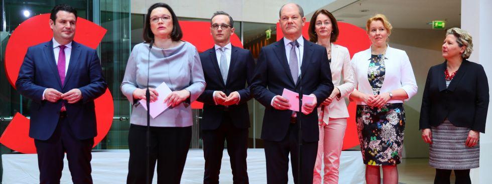Die Minister der SPD für die große Koalition, Foto: dpa