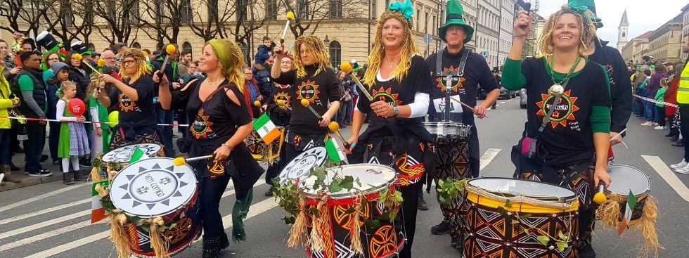 Parade zum St. Patrick's Day in München am 11.3.2018, Foto: Immanuel Rahman