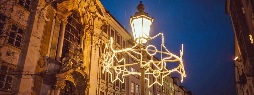 Weihnachtsbeleuchtung in der Sendlinger Straße 2018, Foto: @Anette Göttlicher